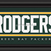 """Green Bay Packers Aaron Rodgers Print - Signature 8""""x24"""""""