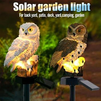 LAST DAY PROMOTION - Solar Powered Owl Garden Lights
