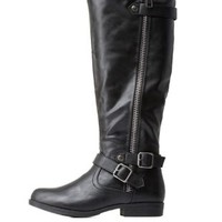 Buckled Riding Boots by