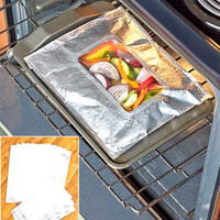 Heavy-Duty Foil Windowed Cooking Bags Steam Marinade Grill Seal Packet Camping