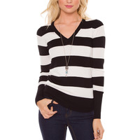 Nellie Stripe Top - White