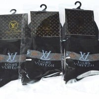 Louis Vuitton Woman Men Cotton Socks