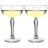 Personalized 8.25 oz. Champagne Coupe Flutes (Set of 2)