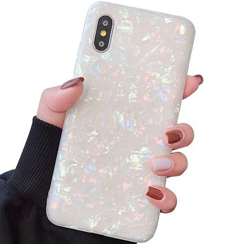 """Compatible with iPhone XR Cases Cute,Glitter Phone Case Girls Women Pretty Design Protective Slim Shockproof Pearly-Lustre Shell Bumper Soft Silicone TPU Cover for iPhone XR 6.1"""" (2018) Colorful"""