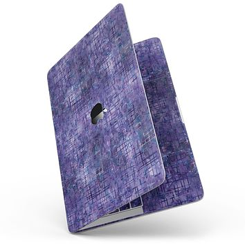 """Indigo Watercolor Cross Hatch - 13"""" MacBook Pro without Touch Bar Skin Kit"""