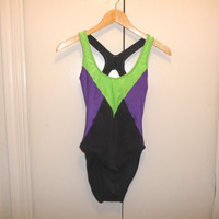Neon Racerback Bathing Suit