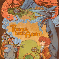 There and Back Again fantasy lit 8x12 print by theGorgonist