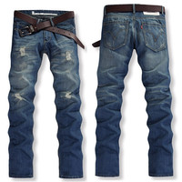 Willstyle Straight Slim Fit Casual Jean Pants