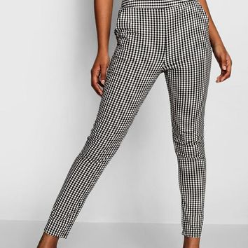 Gingham Pocket Front Trousers   Boohoo