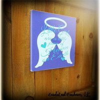 Angel Sign, Thank Heaven For Little Girls, Baby Shower Gift, New Baby Sign,Wooden Sign,Girls Room Decor,Bedroom Sign,Angel Wings,Wood Plaque