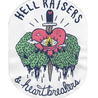 Hell Raisers and Heartbreakers Back Patch from Sick Girls