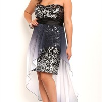 Dress with Ombre Flyaway Skirt
