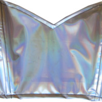Silver Holographic Bustier