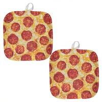 Pepperoni Pizza All Over Pot Holder (Set of 2)