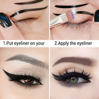 10 PCS Wing Eyeliner Template Stencil Eye Makeup