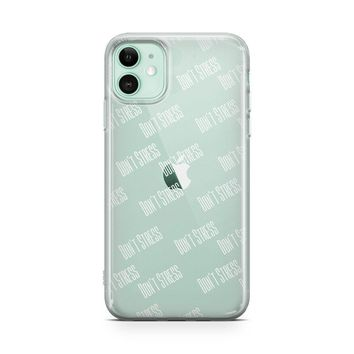Don't Stress - iPhone Clear Case