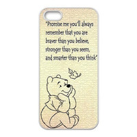 New 2016 Winnie the Poohs Autumn Leaves Custom Design Protection Case Cover For Iphone 4/4s/5/5s/5c/6/6s/6plus/6s plus