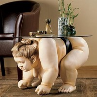 Basho the Sumo Wrestler Table - Table, Coffee Table - - The Design Town