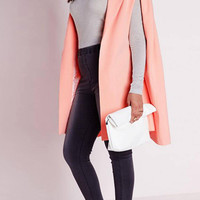 Plus Size Pink Cape Blazer