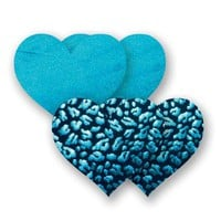 Bristols Six | Nippies Nipple Cover Pasties Concealers Adhesive Waterproof Turquoise Blue Leopard Heart