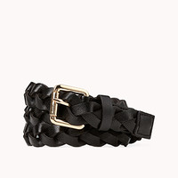 Standout Braided Faux Leather Belt