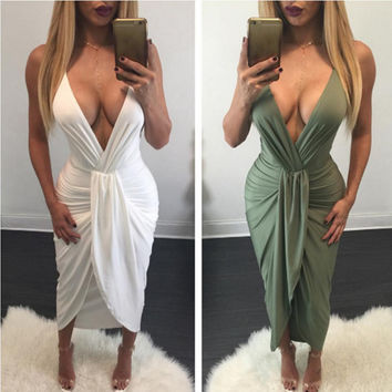 Sexy fashion fold elegant irregular  dress