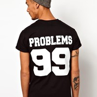 Reclaimed Vintage T-Shirt With Problems Print at asos.com