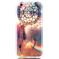 Transparent Dream Catcher Modern Blue Ray Light Clear Mobile Phone Case Cover For iPhone 6 6s 6 Plus 6s Plus