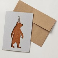 Birthday Bear Card by Anthropologie Brown One Size House & Home