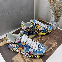 Alexander Mcqueen Graffiti Oversized Sneakers Reference #4