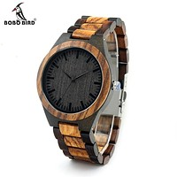 Vintage Zebra Wood Cased Watch