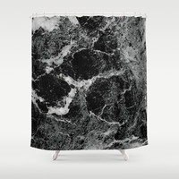 Marble Shower Curtain by Three Of The Possessed | Society6