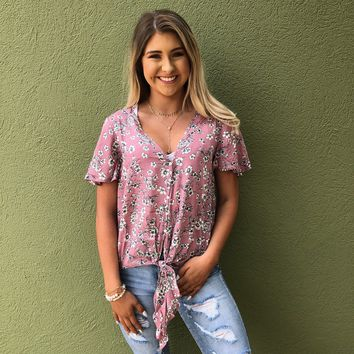 Flowers Forever Top - Pink