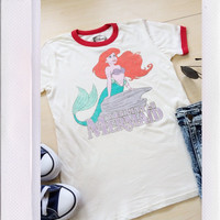 Little Mermaid Tee- White
