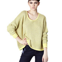 Patterned Long-Sleeve Pullover Knitted Shirt