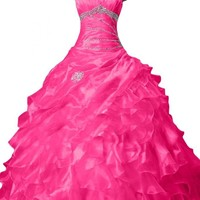 Sunvary 2015 Spring Organza Pleated Quinceanera Dresses Ball Gown for Prom