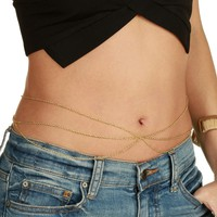 Sale-gold Flaunt It Belly Chain