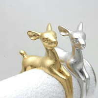 Adjustable Deer Ring - Statement Ring - Stackable Ring - PREORDER