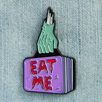 """Eat Me"" Zombie Lunch Box Enamel Pin"