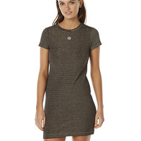 STUSSY WHARFIE WOMENS TEE DRESS - BLACK GOLD