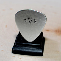 Personalized Monogram Sterling Silver Guitar Pick