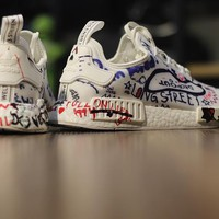 "Vetements x Adidas NMD Boost ""Custom Graffiti"" BA7527 Men Women Running Sneaker"