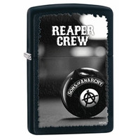 Zippo 28677 SOA Sons of Anarchy Lighter Windproof - Black Matte