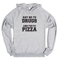 Say No To Drugs-Unisex Heather Grey Hoodie