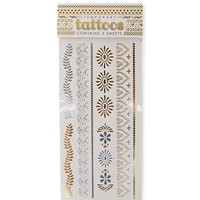 With Love From CA Leafy Paisley Flash Tattoo - Womens Scarves - Gold And Silver - One