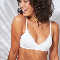 Starts With You Wireless Lightly Lined Bra, White
