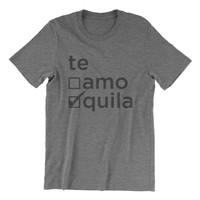 Te Amo or Tequila - Grey Tri Blend T-Shirt
