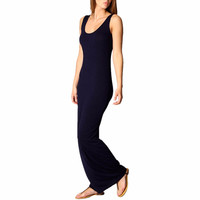 New Womens Lady Bodycon Sleeveless Casual Summer Cotton Maxi Long Dress Sundress YRD