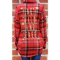 Wild and Free Flannel