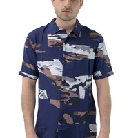 SPATIAL Button-Down Short-Sleeve Shirt